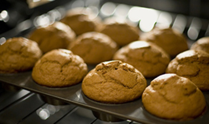 High Protein Flaxseed Muffins
