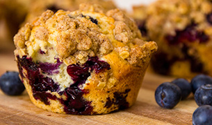 Protein-Packed Blueberry Muffin