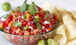 Quick and Satisfying Fresh Tomato Salsa