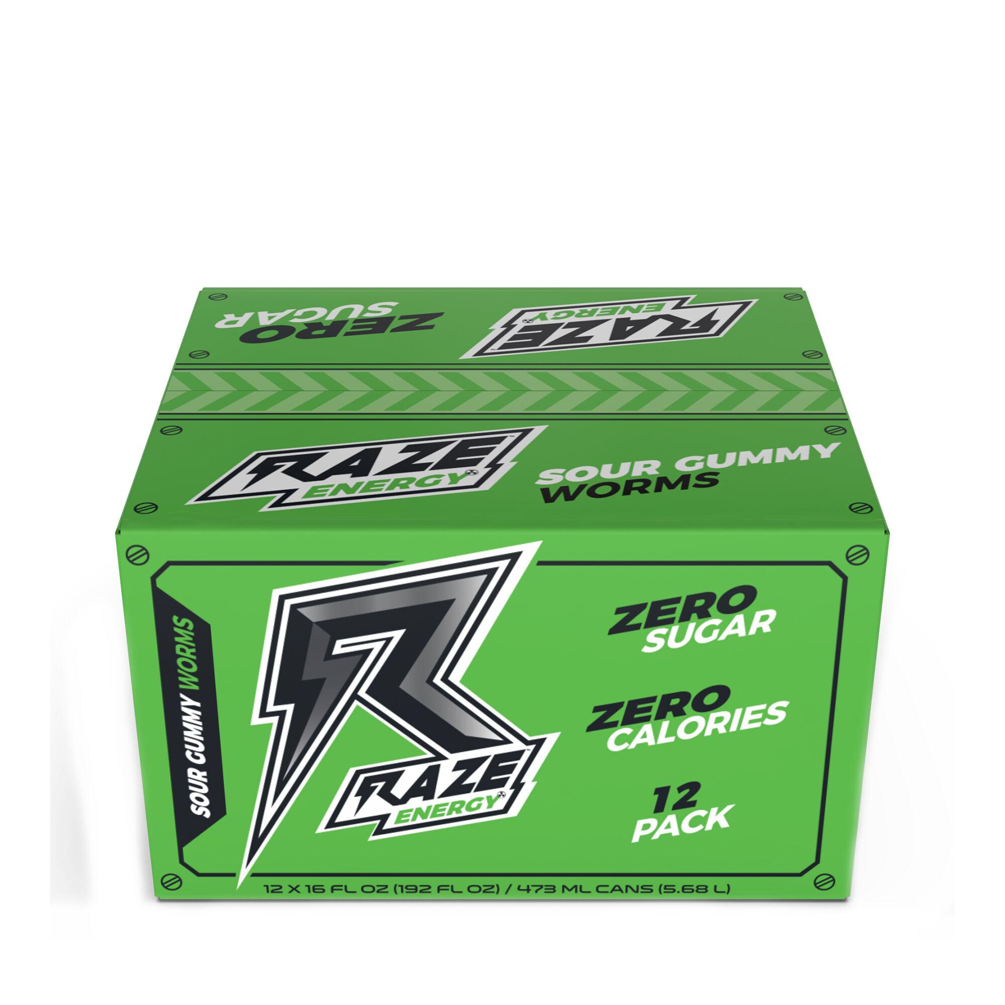 RAZE™ Energy Drink - Sour Gummy Worm