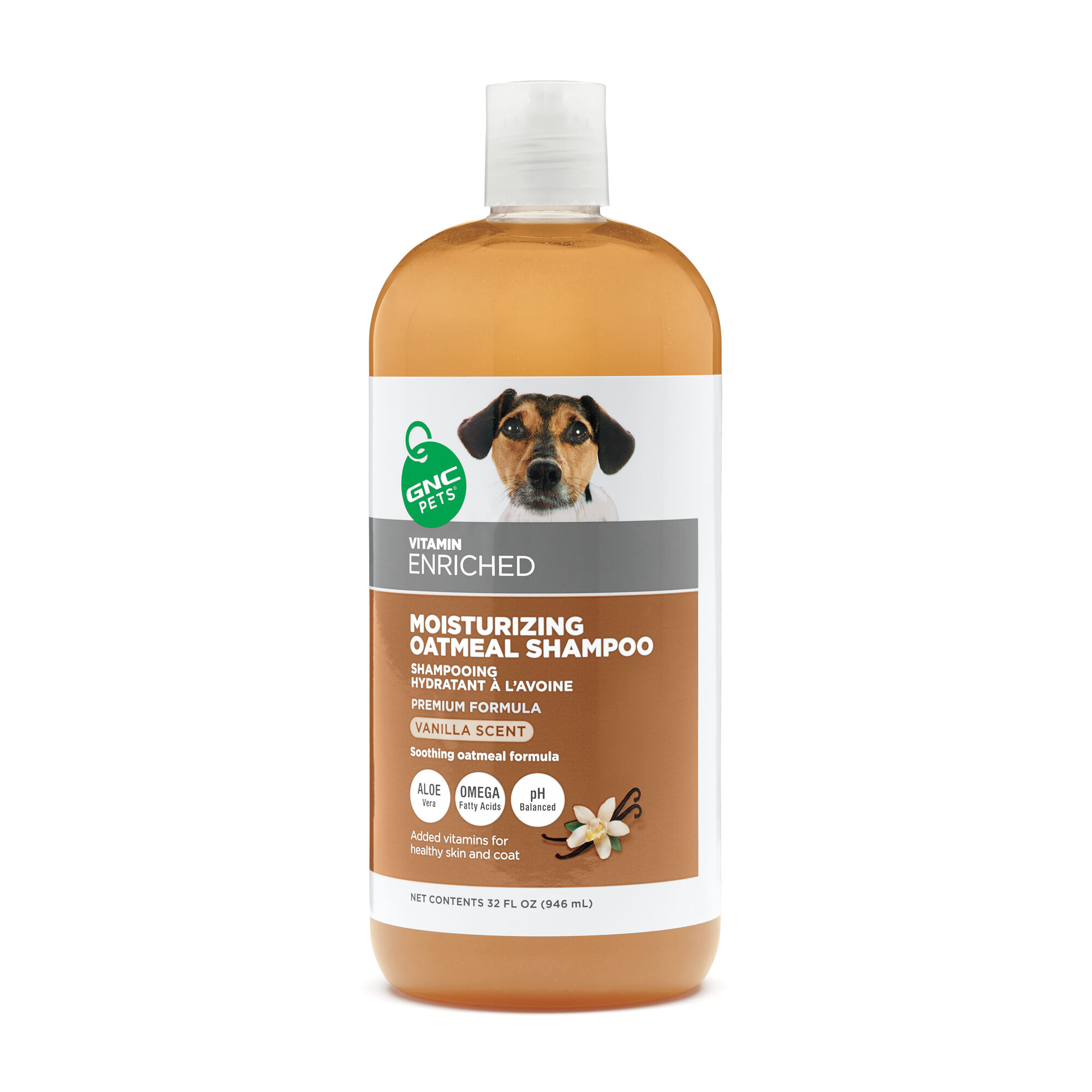 GNC Pets Moisturizing Oatmeal Shampoo - Vanilla Scented