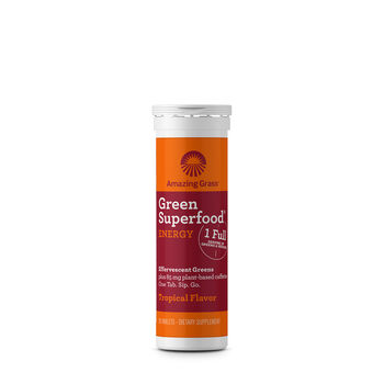 Green Superfood® Energy Effervescent Greens - Tropical | GNC