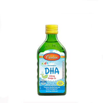 Kid's Norwegian DHA 550 mg Omega 3s- Natural Lemon Flavor | GNC