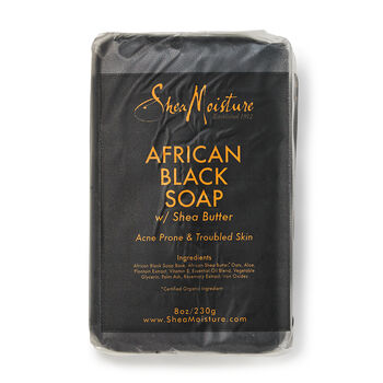 Shea Moisture African Black Soap Acne Prone Face Body Bar Gnc