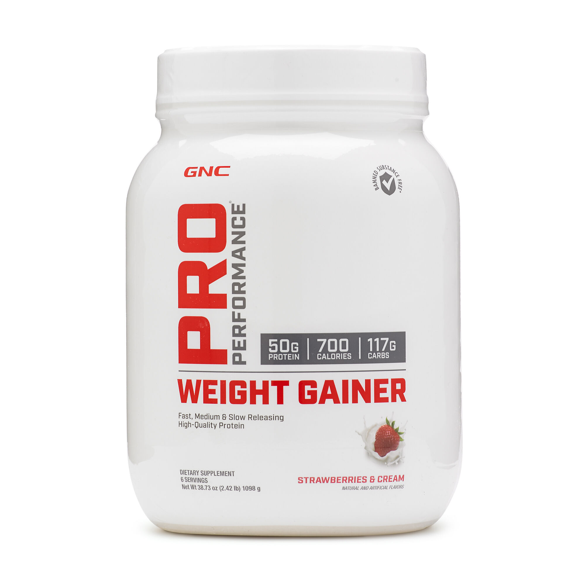 Gnc Pro Performance Weight Gainer Strawberries And Cream Gnc