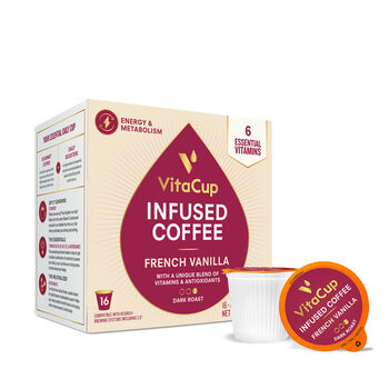 Vitamin Infused Coffee Pods - French Vanilla | GNC