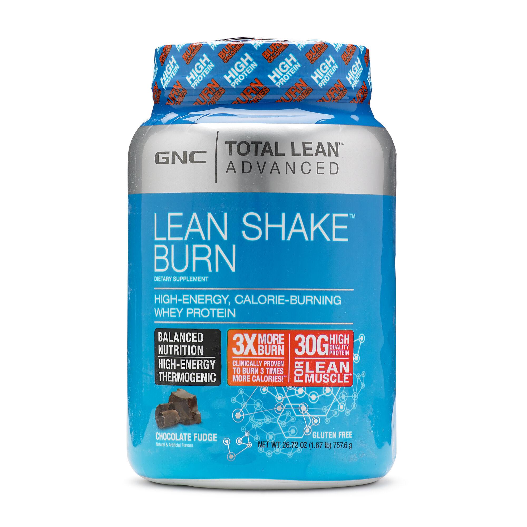 Gnc Total Lean Advanced Lean Shake Burn Whey Protein Chocolate Fudge Gnc