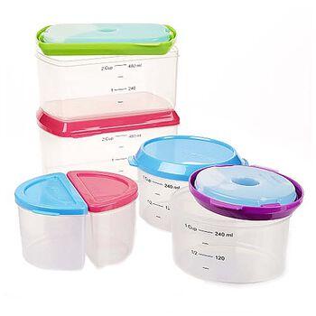 Healthy Living 14pc Portion Control Set w/ Reusable Ice Packs   GNC
