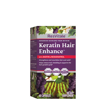 Keratin Hair Enhance™ with Biotin and Resveratrol | GNC