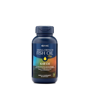 Triple Strength Fish Oil Plus Krill Oil | GNC