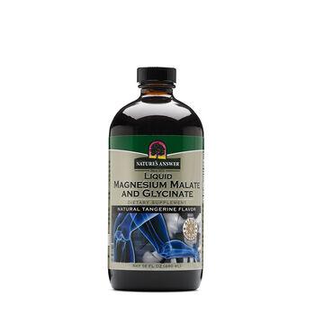 Liquid Magnesium Malate and Glycinate - Natural Tangerine Flavor | GNC