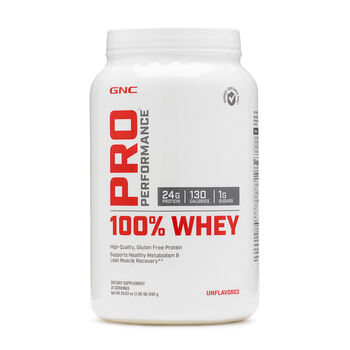 100% Whey - UnflavoredUnflavored   GNC