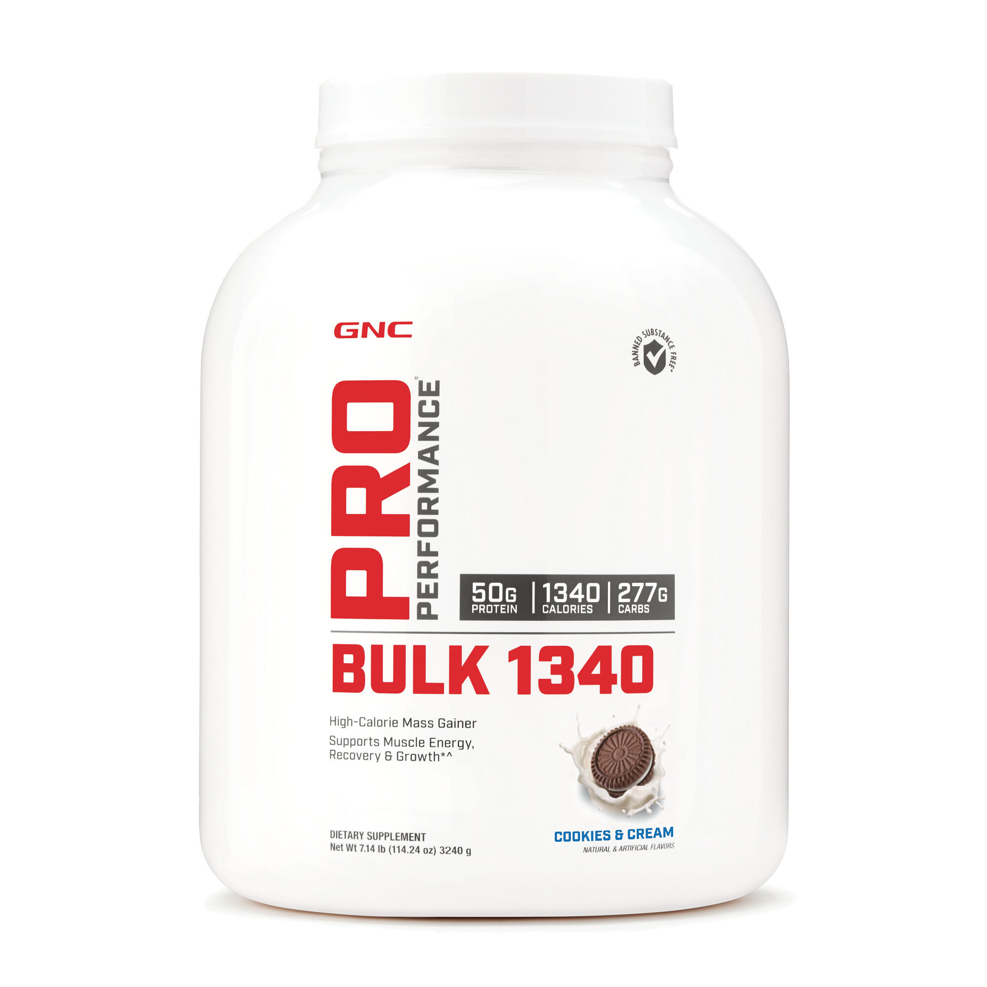 Gnc Pro Performance Bulk 1340 Mass Gainer Cookies Cream Gnc