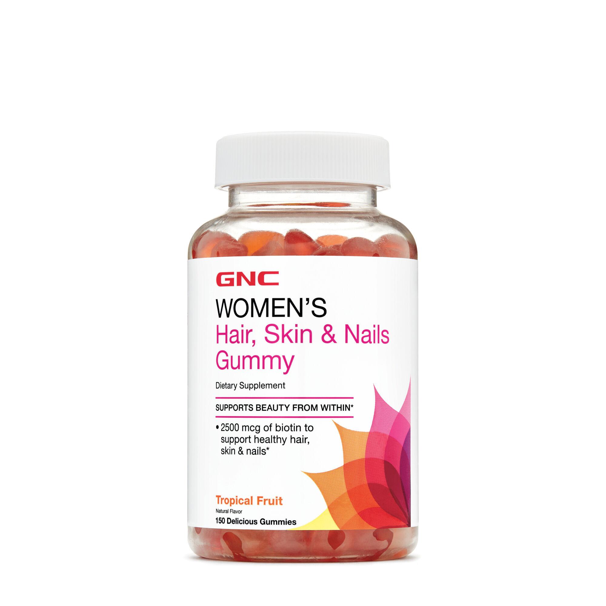 GNC Women\'s Hair, Skin & Nails Gummy - Tropical Fruit