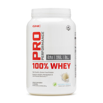 100% Whey - Natural VanillaNatural Vanilla | GNC