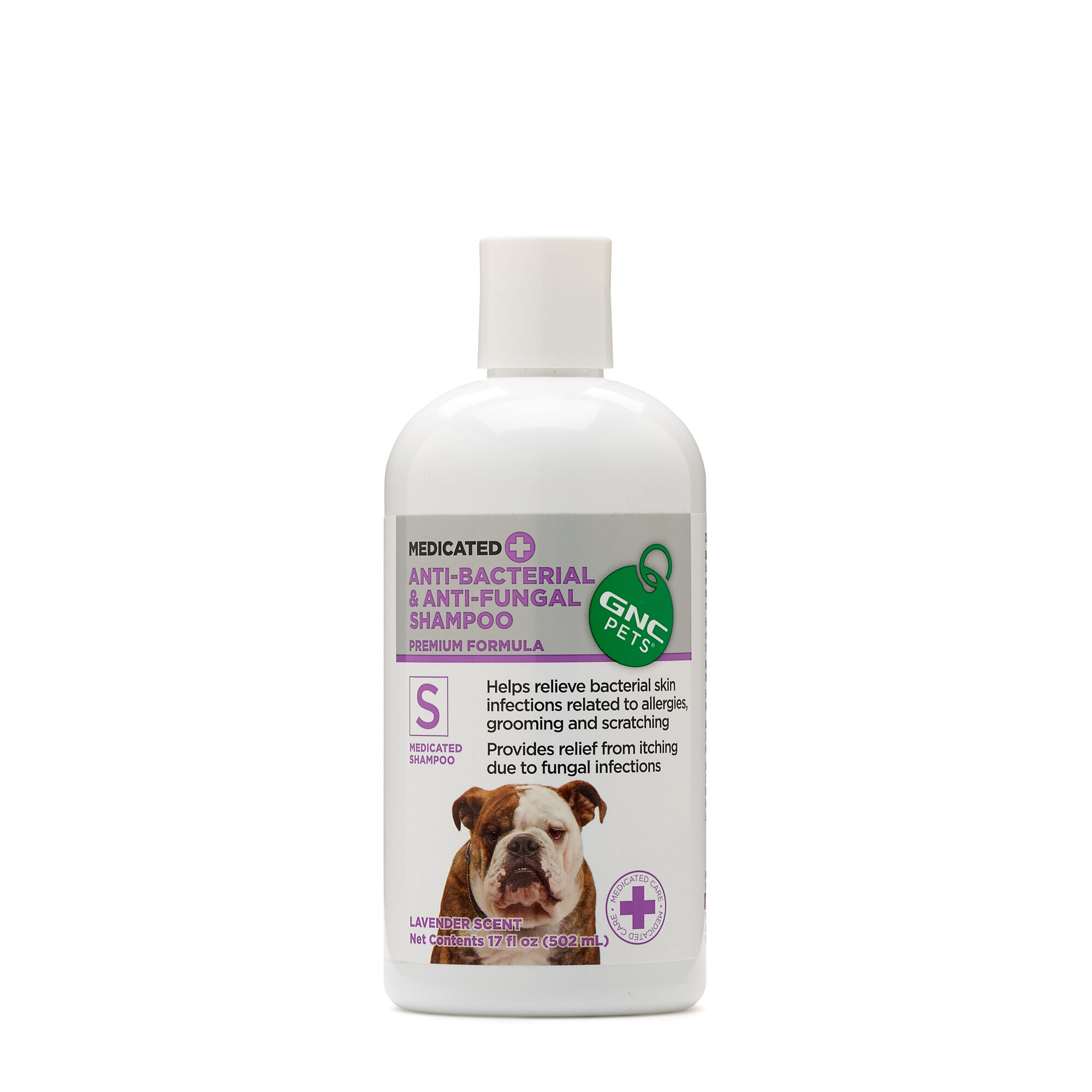 GNC Pets Medicated Anti-Bacterial & Anti-Fungal Shampoo- Lavender Scent