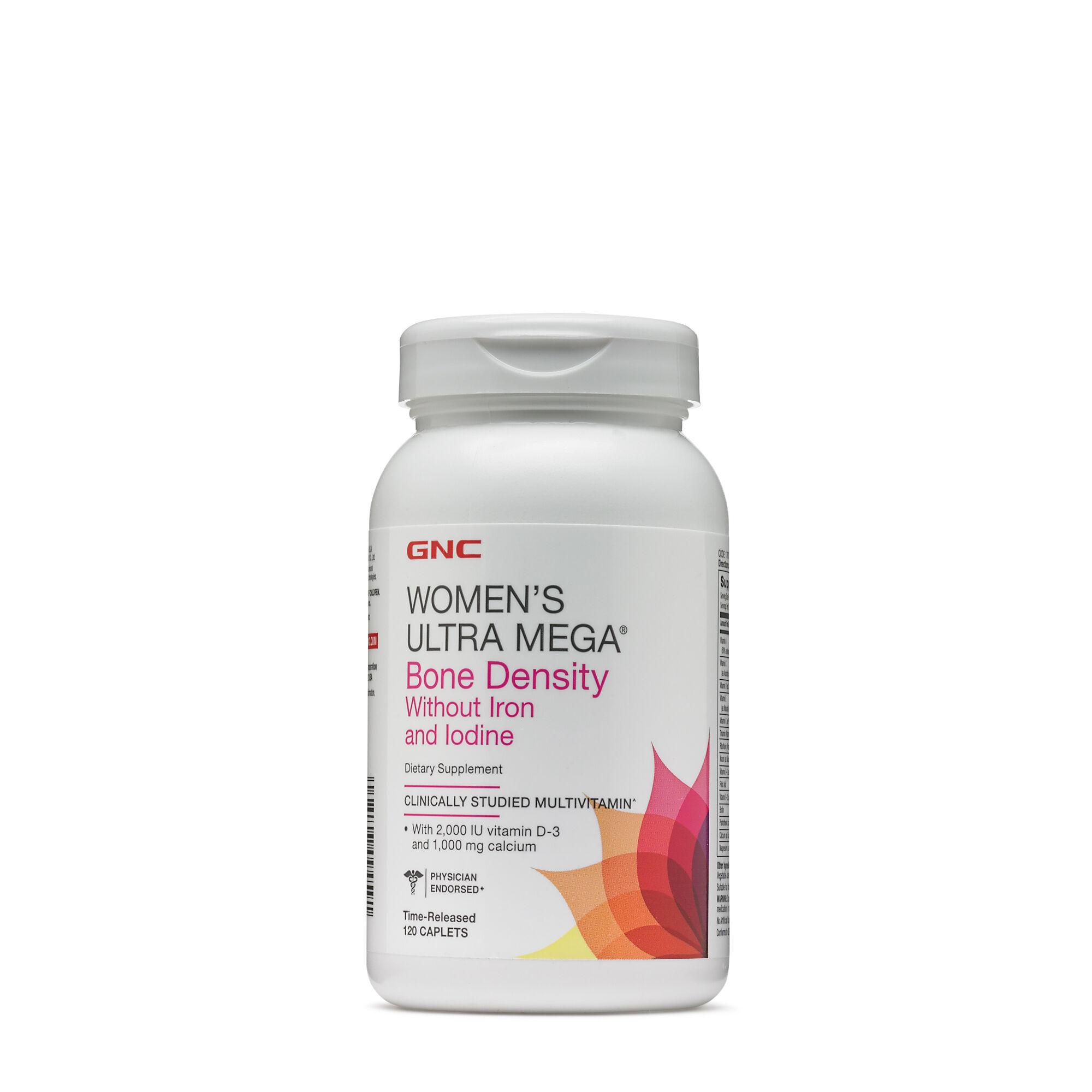 Best Womens Multivitamin 2020.Gnc Women S Ultra Mega Bone Density Without Iron And Iodine