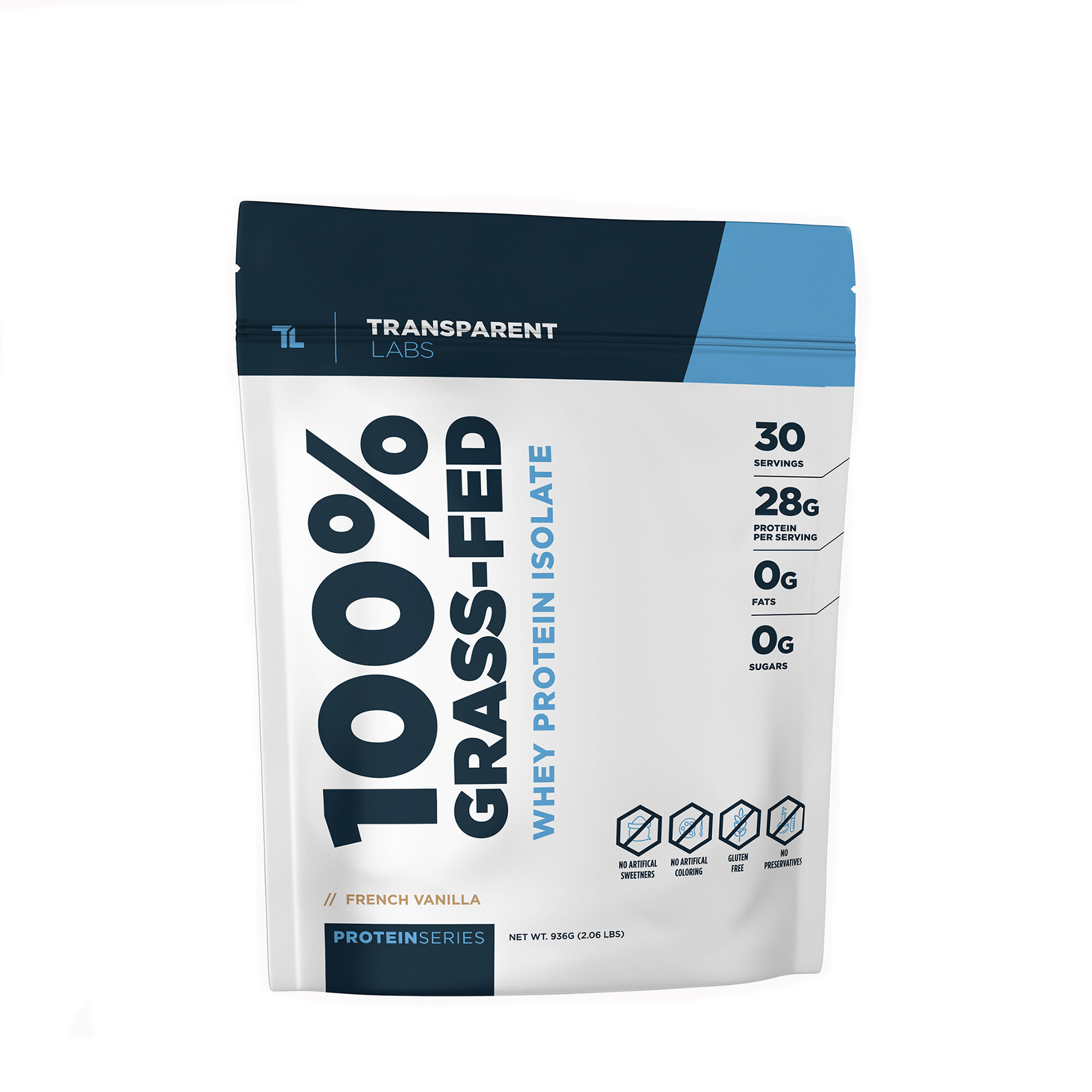 Transparent Labs 100 Grass Fed Whey Protein Isolate French Vanilla Gnc