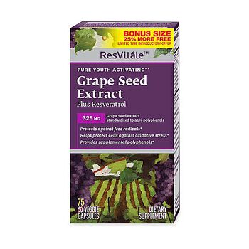 Grape Seed Extract Plus Resveratrol - 25% MORE FREE | GNC