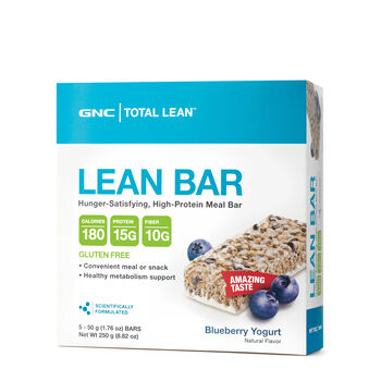 Gnc Total Lean Bar Blueberry Yogurt High Protein Bars 6