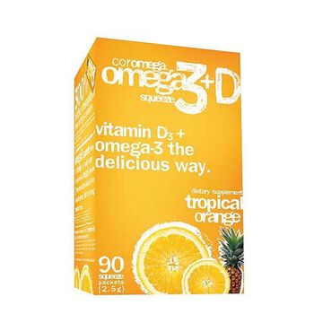 Omega 3+D Squeeze- Tropical Orange | GNC