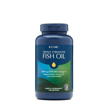Gnc triple strength fish oil 120ct support brain eye for Fish oil pills walmart