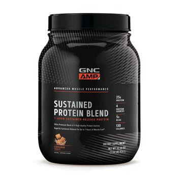 AMP Sustained Protein Blend: Whey, Casein & Egg Protein | GNC