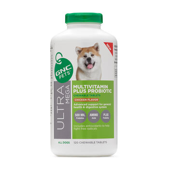 Ultra Mega Multivitamin Plus Probiotic - All Dogs - Chicken Flavor | GNC