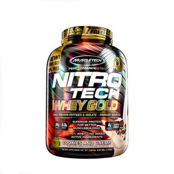 Nitro-Tech™ 100% Whey Gold - Cookies and CreamCookies and Cream | GNC