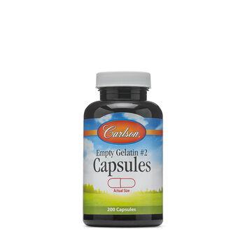 Empty Gelatin #2 Capsules | GNC