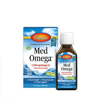 Norwegian Fish Oil Concentrate - Med Omega™ - Lemon-Lime Flavor | GNC
