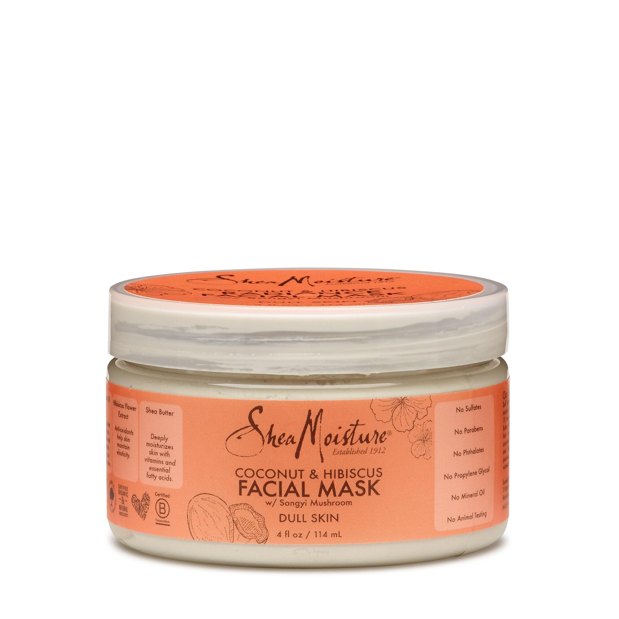 Shea Moisture Coconut Hibiscus Facial Mask With Songyi Mushroom Gnc