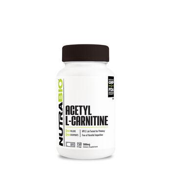 NutraBio® Acetyl L-Carnitine - 500 mg | GNC