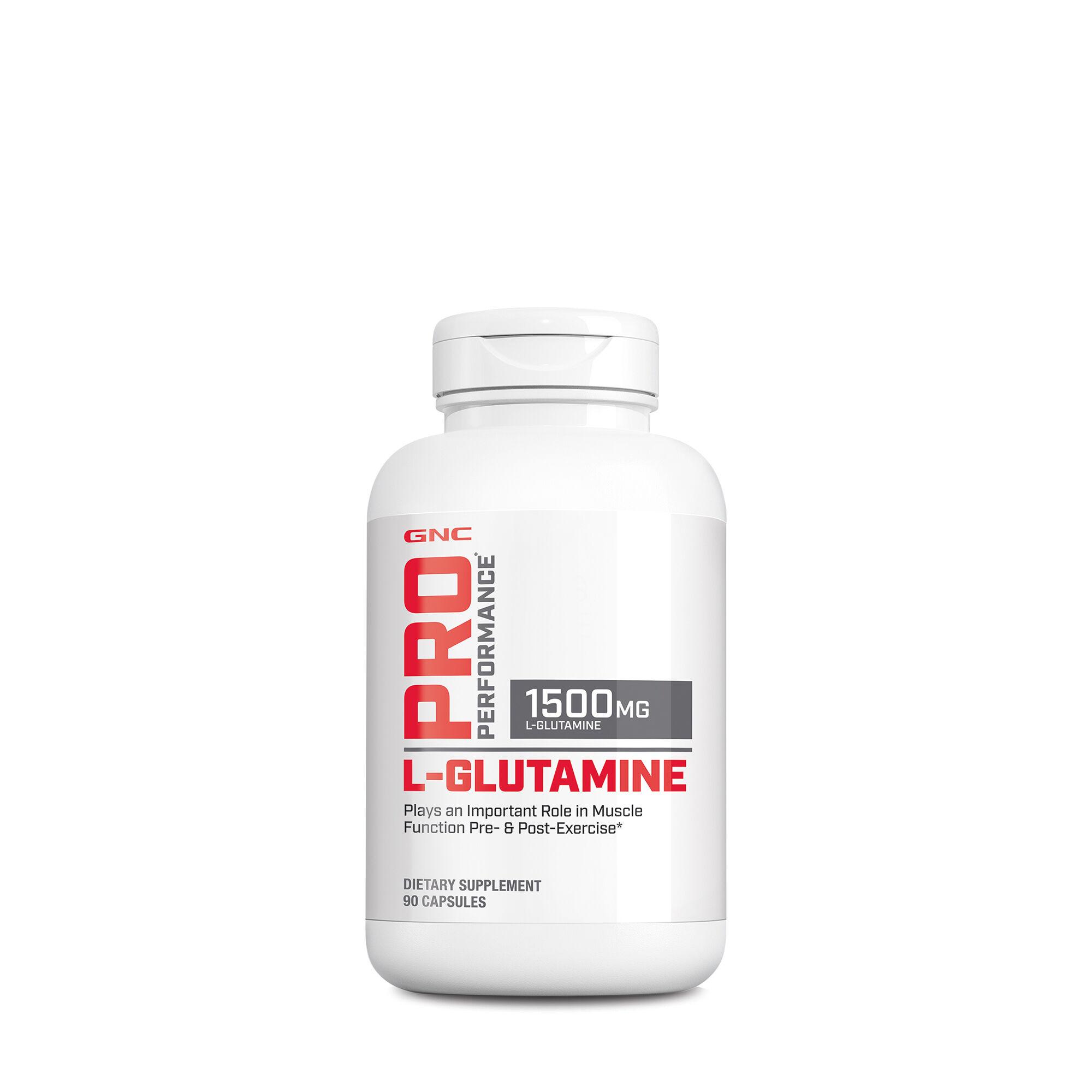 When to take l glutamine capsules