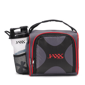 Fitpak Meal Prep Bag W Portion Control Container Set Red Gnc