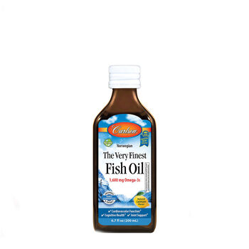 Carlson The Very Finest Fish Oil Natural Lemon Flavor Gnc