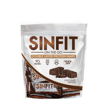 SIN FIT® On-The-Go Double Layer Protein Bars - Chocolate CrunchChocolate Crunch | GNC