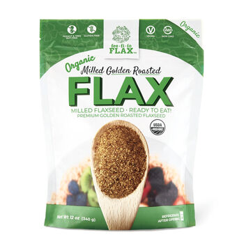 Organic Milled Golden Roasted Flax | GNC