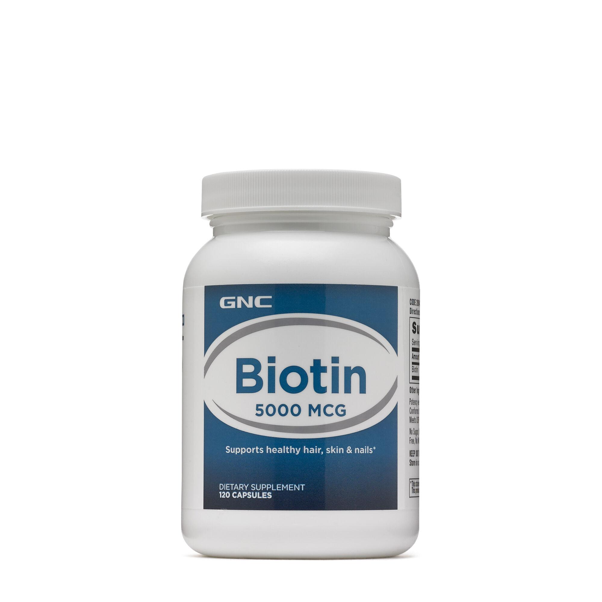 GNC Biotin 5000 mcg