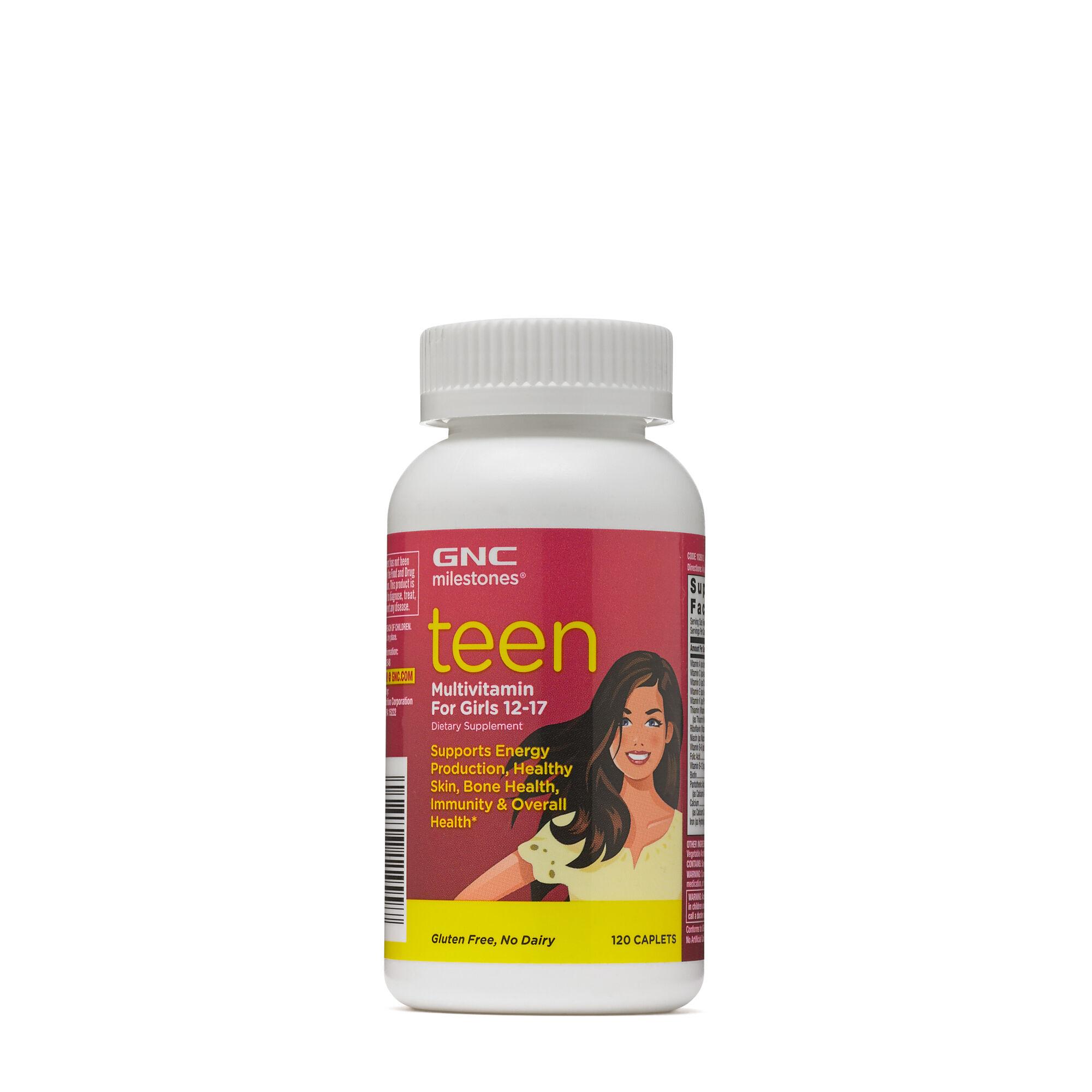 Gnc Milestones Teen Multivitamin For Girls 12 17 Gnc