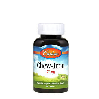 Chew- Iron 27 mg - Natural  Grape Flavor | GNC