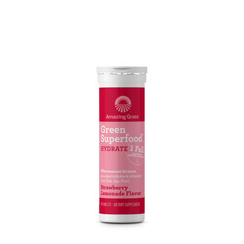 Green Superfood® Hydrate Effervescent Greens - Strawberry LemonadeStrawberry Lemonade | GNC