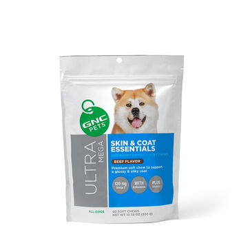 Ultra Mega Skin & Coat Essentials for Adult Dogs - Beef Flavor | GNC