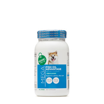 Mega Fish Oil Advantage for All Dogs - Fish Flavor | GNC