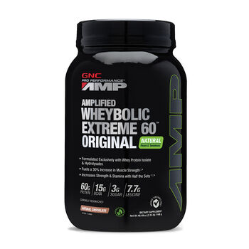 Amplified Wheybolic Extreme 60™ Original Natural Flavors - Natural ChocolateNatural Chocolate | GNC