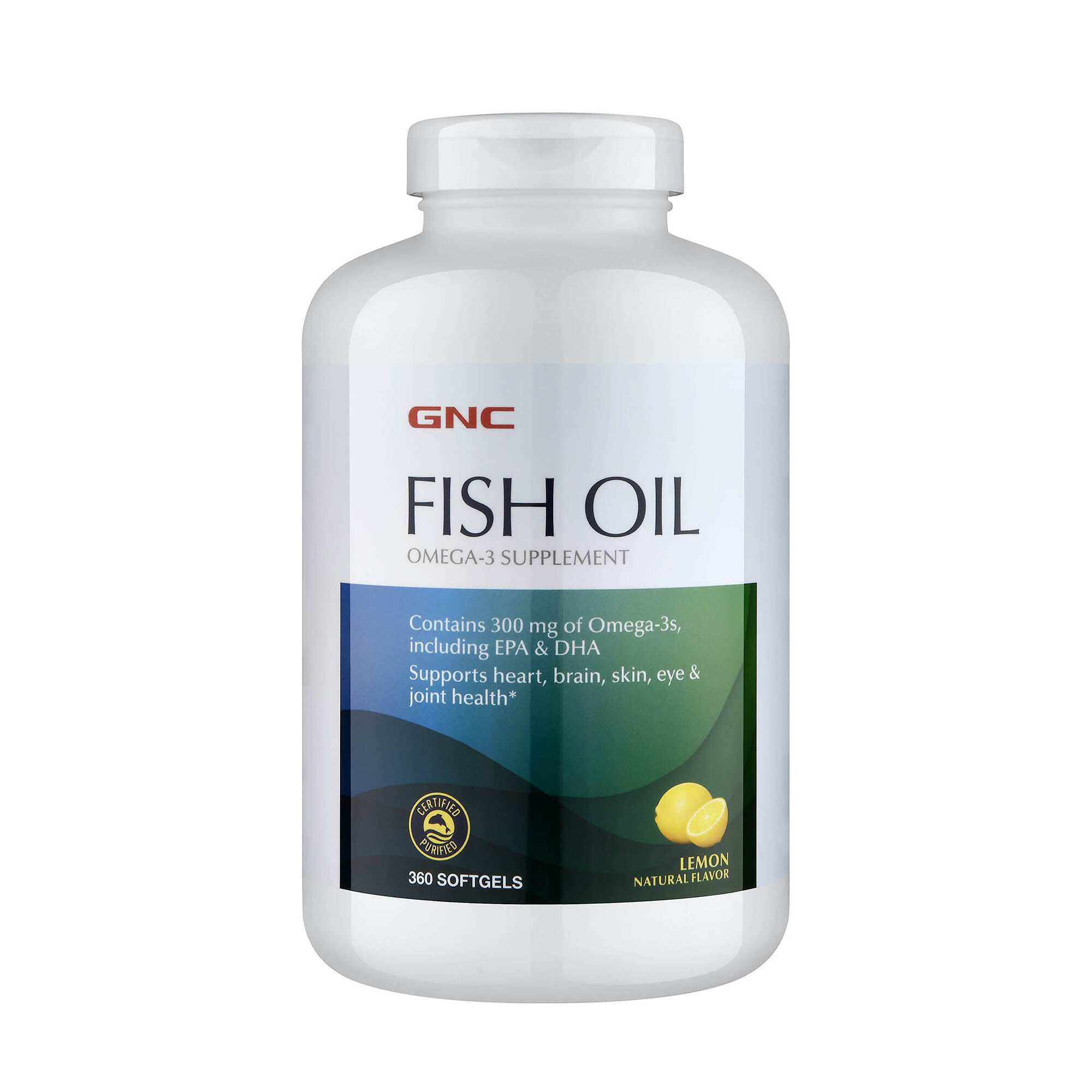 Fish Oil - 360 Softgels - GNC - Fish Oils