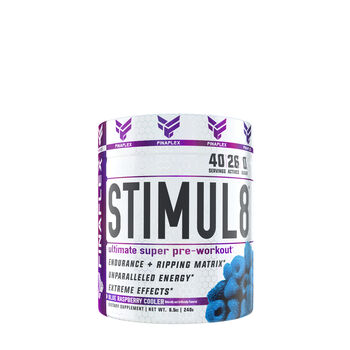 Stimul8® Ultimate Super Pre-Workout* - Blue Raspberry CoolerBlue Raspberry Cooler | GNC