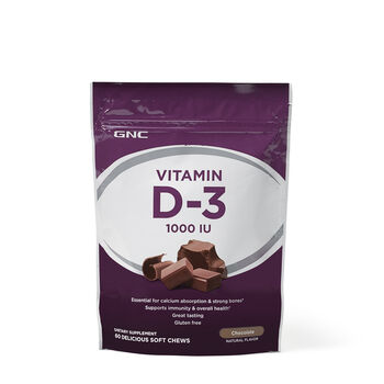 Vitamin Soft Chews D-3 1000 IU - Chocolate | GNC
