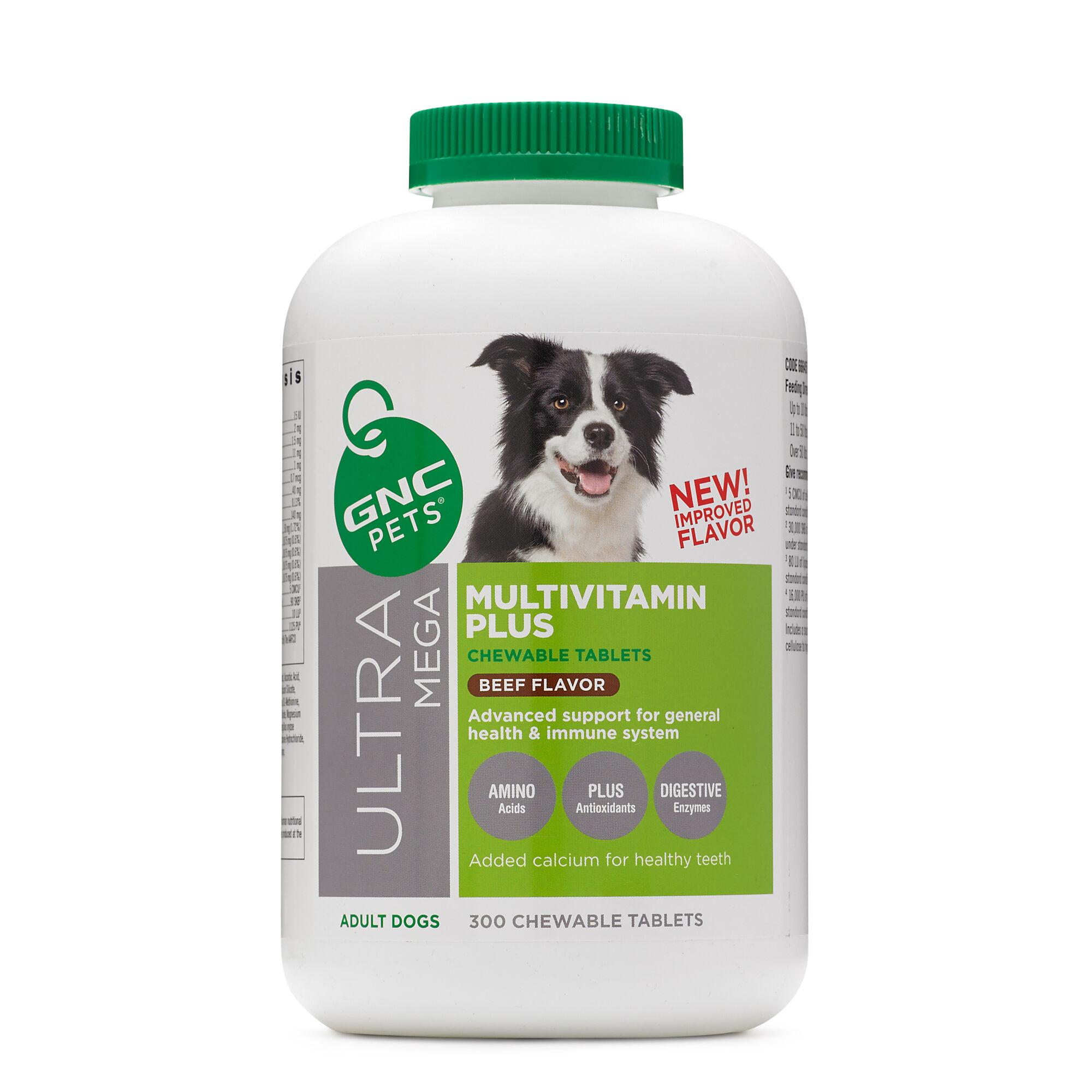 GNC Pets Ultra Mega Multivitamin Plus - Adult Dogs - Beef Flavor