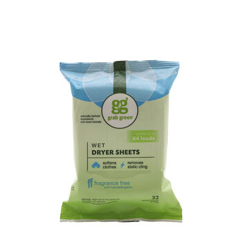 Wet Dryer Sheets - Fragrance Free | GNC
